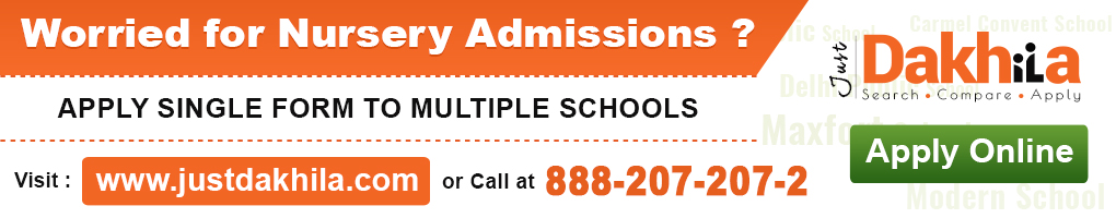 Nursery Admission Year 2018-19 Fill form Online School Delhi India